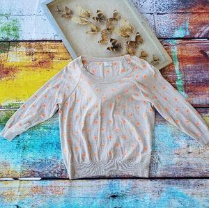 Madewell Wallace Brightspot Neon Polka Dot Sweater